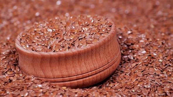 Graines de lin Style de vie sain Agriculture Entier Cru Séché Graines de lin brun