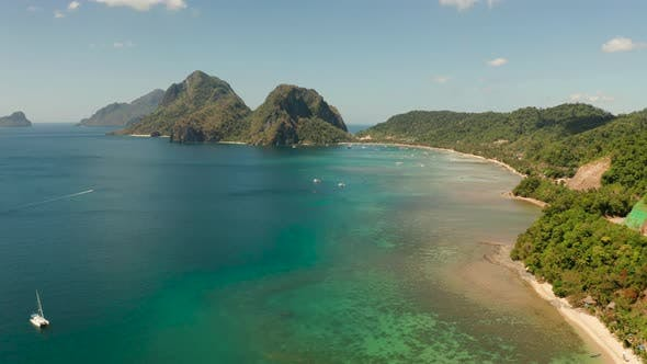 Thumbnail for Las Cabanas Beach at El Nido At, Philippines