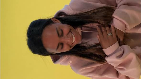 Thumbnail for Multiracial Girl Laughing at Somebody