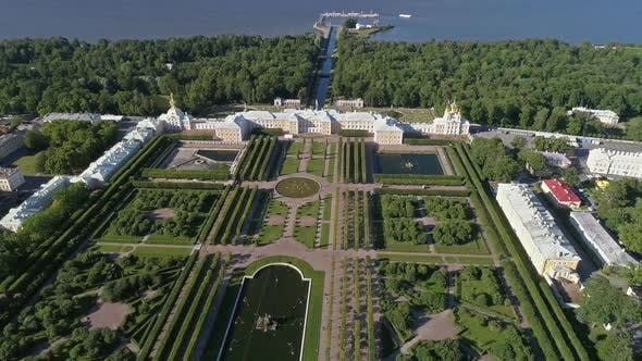 Thumbnail for Flight Around Petrodvorets Palace in Peterhof Park