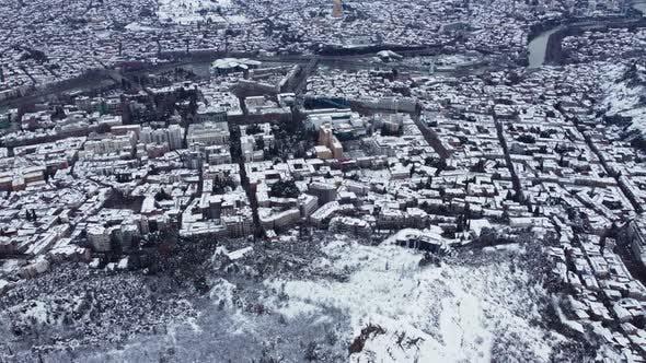 Snowy City Aerial