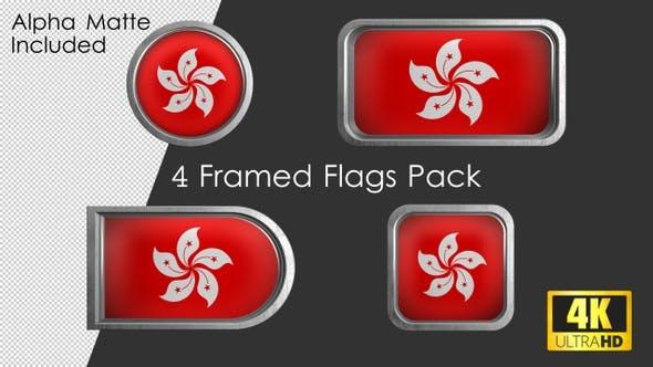 Thumbnail for Framed Hong Kong Flag Pack