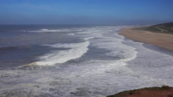 Thumbnail for Aerial View on Big Waves of Atlantic Ocean