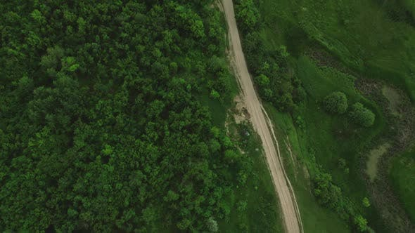 Thumbnail for View From Above The Road Near The Forest