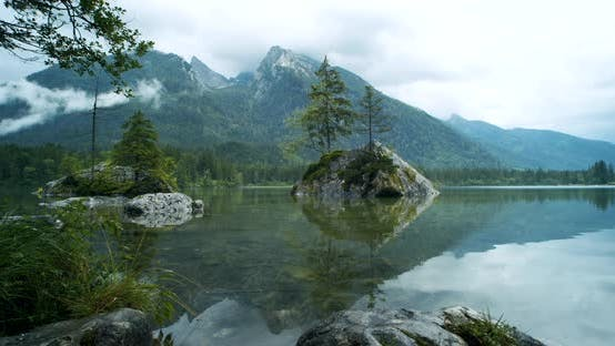 Thumbnail for Morning on Hintersee Lake, Ramsau, Berchtesgaden, Bavaria, Germany, Europe