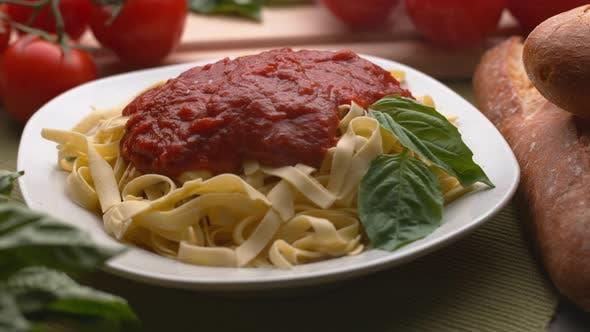 Thumbnail for Parmesan cheese sprinkled onto pasta in super slow motion, shot on Phantom Flex 4K