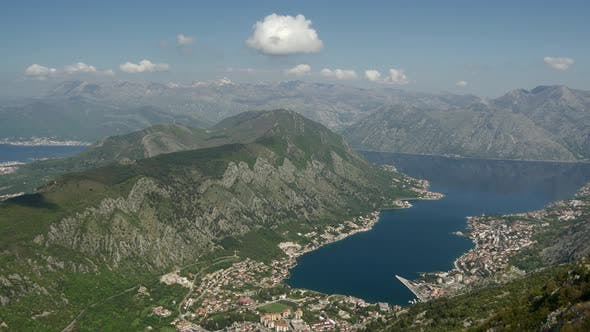 Time lapse from Kotor bay