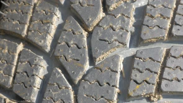 Thumbnail for Car tire rubber texture  close-up 4K 2160p UHD panning video - Car tire texture 4K 3840X2160 UHD foo