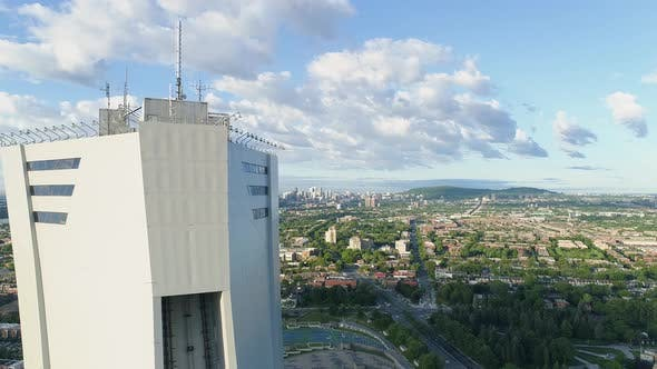 Thumbnail for Aerial of Montreal with the Olympic Stadium