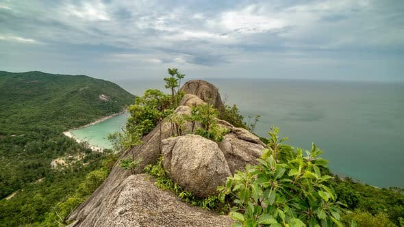 Cover Image for Trees Grow on the Rocks on Viewpoint Bottle Beach, Koh Phangan, Thailand