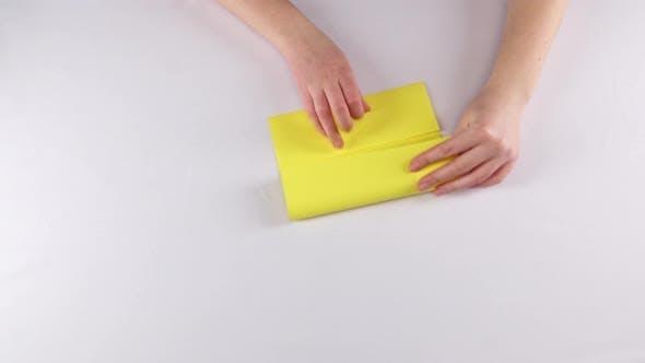 Thumbnail for Paper. Origami. White. Time Lapse