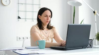 Female Employee Looking Forward to the Vacation
