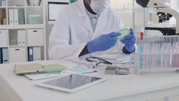 Virus Researcher in Laboratory
