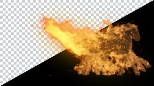 Burning Horse