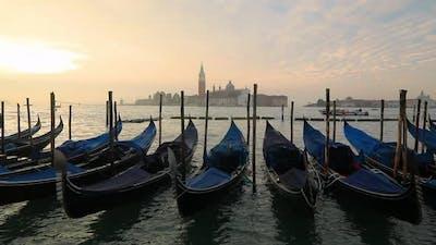 Venice Gondolas on San Marco Square, Venice, Italy