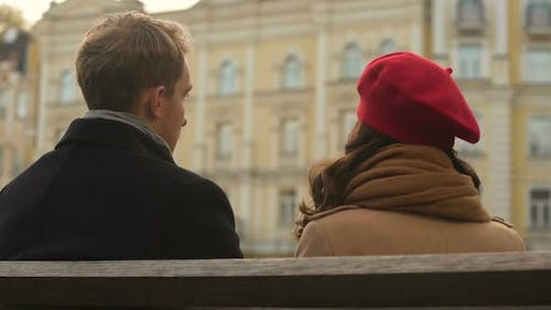 Male And Female Make It Up After A Quarrel Trust In A Long Term Relationship