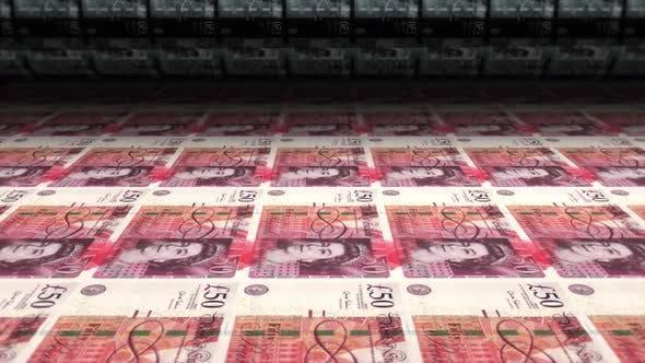 Money Printing British Pounds