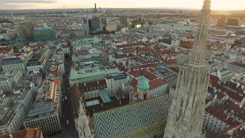 Aerial view of Stephansdom