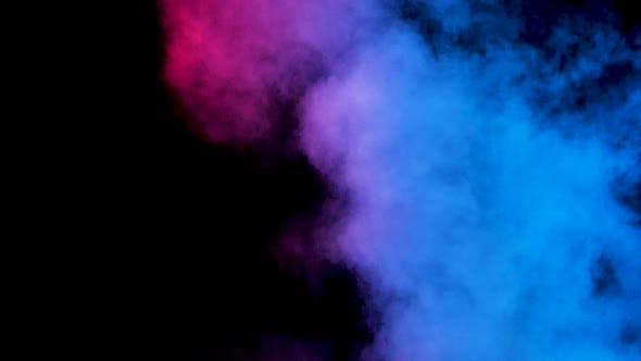 Thumbnail for Rising Abstract Smoke in Blue and Red Lights