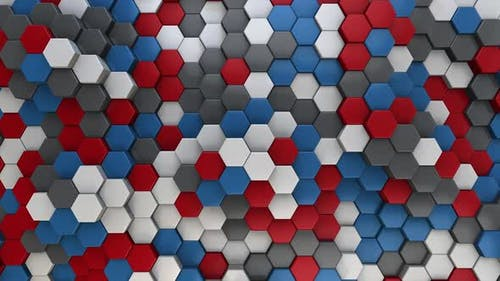 Hexagon Background Abstract American