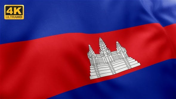 Thumbnail for Flag of Cambodia - 4K
