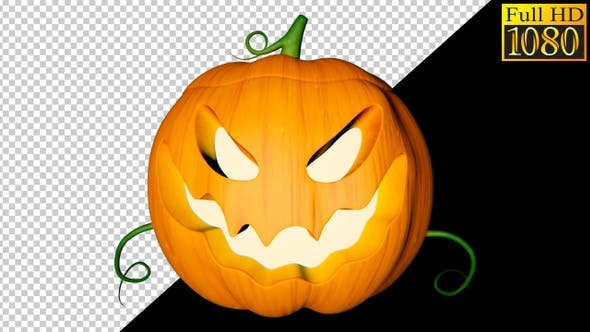 Thumbnail for Helloween Pumpkin Video Loops Pack 002