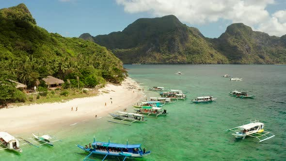 Thumbnail for Tropical Island with Sandy Beach. El Nido, Philippines