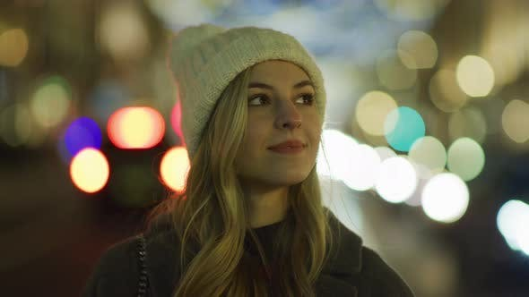 Thumbnail for Girl on a Christmas night