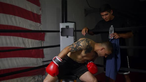 Thumbnail for Boxer In Corner With Trainer 23