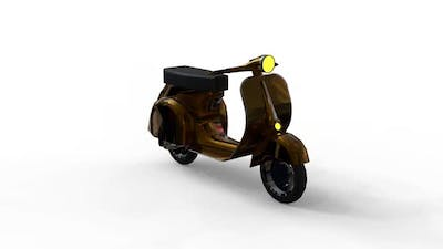 Modified old scooter