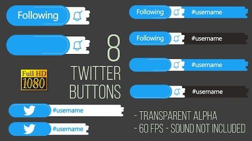Twitter Buttons FullHD