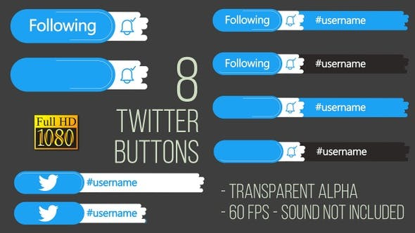 Thumbnail for Twitter Buttons FullHD