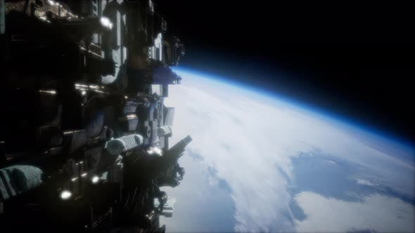 Thumbnail for Spaceships in Space 3D Rendering
