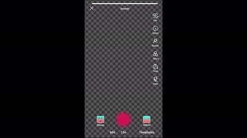 Tiktok interface animation, main me and camera recording.