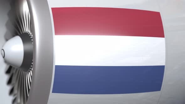 Thumbnail for Airplane Engine with Flag of Netherlands