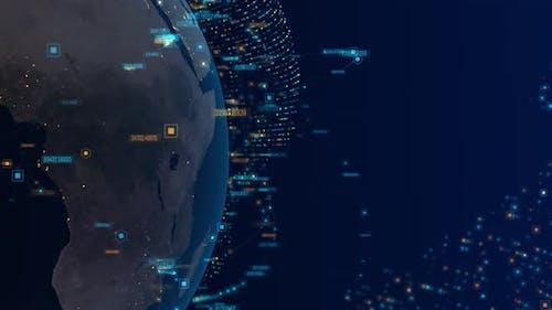 Digital World Connection Background 4K 02