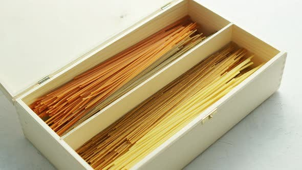 Thumbnail for Raw Spaghetti Placed in Box