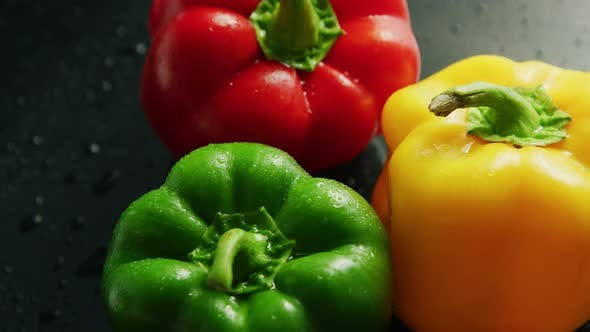 Thumbnail for Colorful Bell Peppers in Drops