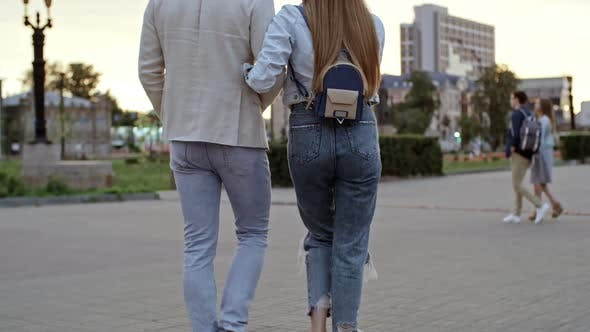 Thumbnail for Rear View of Romantic Couple Walking Together