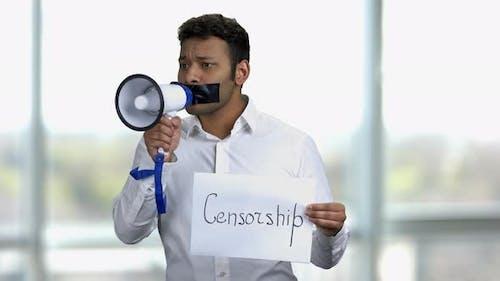 Cencorshiop in Asien Konzept verbotene Meinung