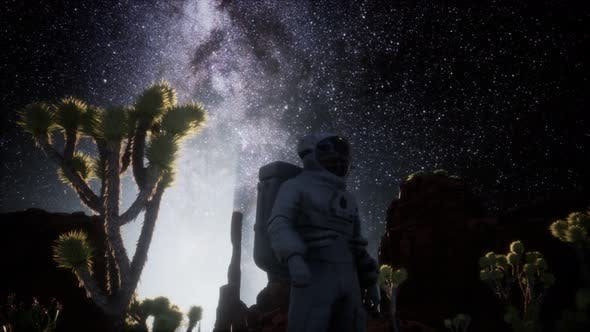 Thumbnail for Astronaut and Star Milky Way Formation in Death Valley