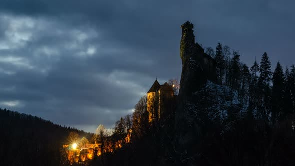 Thumbnail for Dramatic Sky over Dracula´s Castle
