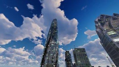 Clouds In City