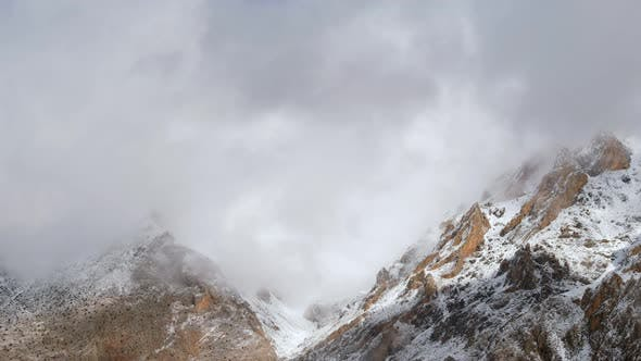 Thumbnail for Foggy Snowy Mountains