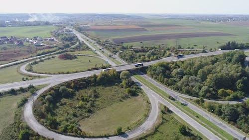 Luftaufnahmen der Straßeninfrastruktur