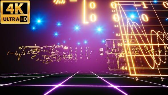 Thumbnail for Glowing Math Formulas 4k