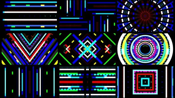 4k Abstract Flickering Lines