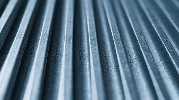 Thumbnail for Close-up of an Iron Corrugated Surface of a Device
