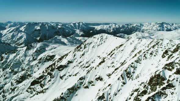 Thumbnail for Snowy Alpine Mountains Landscape Aerial Panorama