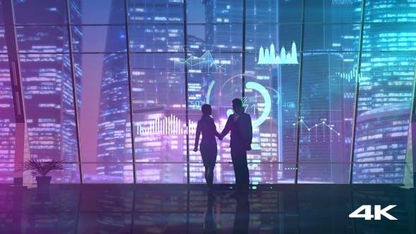Thumbnail for Erfolgreiche Deal und Handshake auf dem Hintergrund des Fensters 4K